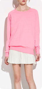 Sweat-shirt rose fluo