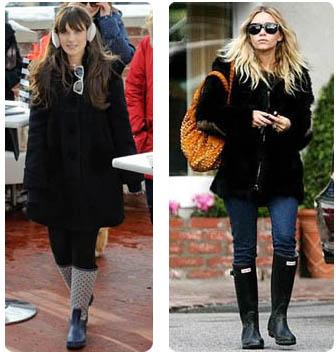 chaussures pluie jolies