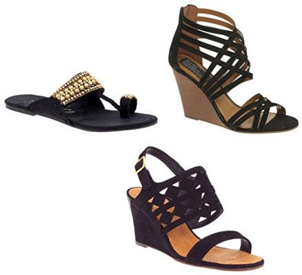Sandales et compensées