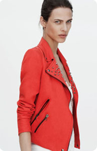 Perfecto lin rouge Zara