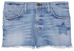 Mini-short en jean Current Elliott