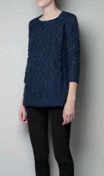 Pull Bleu saphir Zara