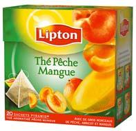 thé pêche mangue lipton
