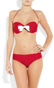 Bikini rouge Miu Miu