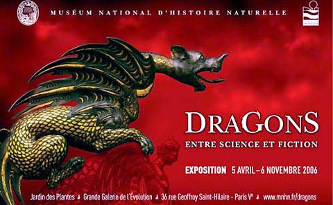 exposition dragons au museum national d'histoire naturelle