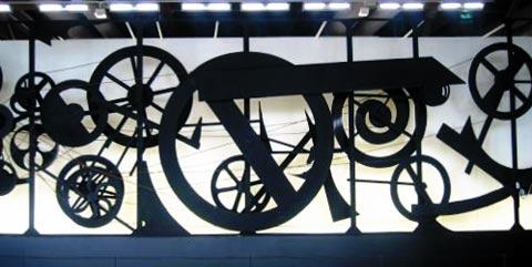 Sculpture au centre george Pompidou