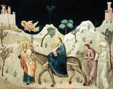 La fuite d'Egypte Giotto di Bondone