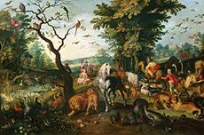 Noe conduisant les animaux Jan Brueghel