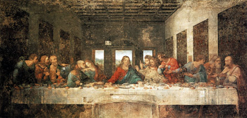 Peinture église Santa Maria delle Grazie Milan