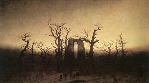 Caspar David Friedrich L'abbaye dans une forêtde chênes