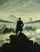 Le voyageur contemplant une mer de nuage, Caspar David Friedrich