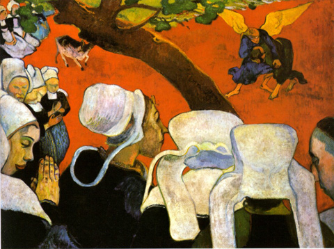 La vision du sermon, la lutte de Jacob avec l'Ange Gauguin