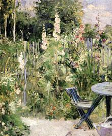La rose tremiere peinture Berthe Morisot