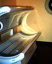 Seance d UV en cabine