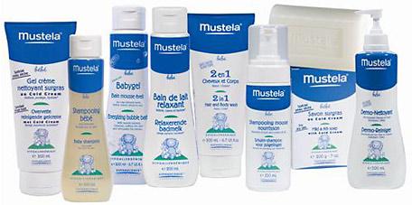 La gamme de produits Mustela