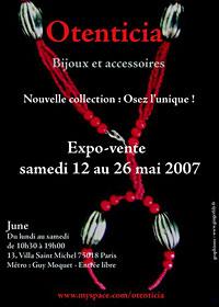 Exposition vente nouvelle collection Otenticia