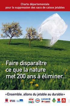 Charte départementale pour la suppression des sacs plastiques jetables