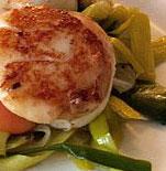 recette de la noix de saint jacques poêlée avec julienne de légumes