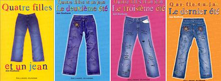 Les 4 tomes du roman quatre filles et un jean