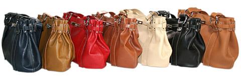 La gamme de couleurs des sacs cuir