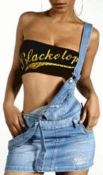 Jupe salopette en jeans BlackOTop