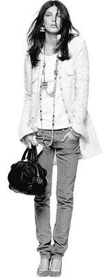 Veste et jean slim Chanel