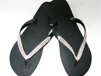 Tong flip flop swarovski