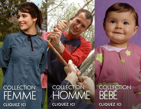 le colection vêtement écologiques Ideo