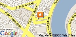 Google map CAPC Bordeaux