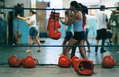 Salle d'entrainement de boxe réservée aux femmes