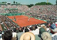 Les courts de Roland Garros