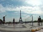 Une partie d'urban tennis dans Paris