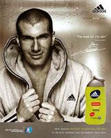Zidane representant de la marque Adidas