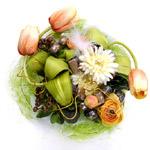 Bouquet de fleurs et chocolat